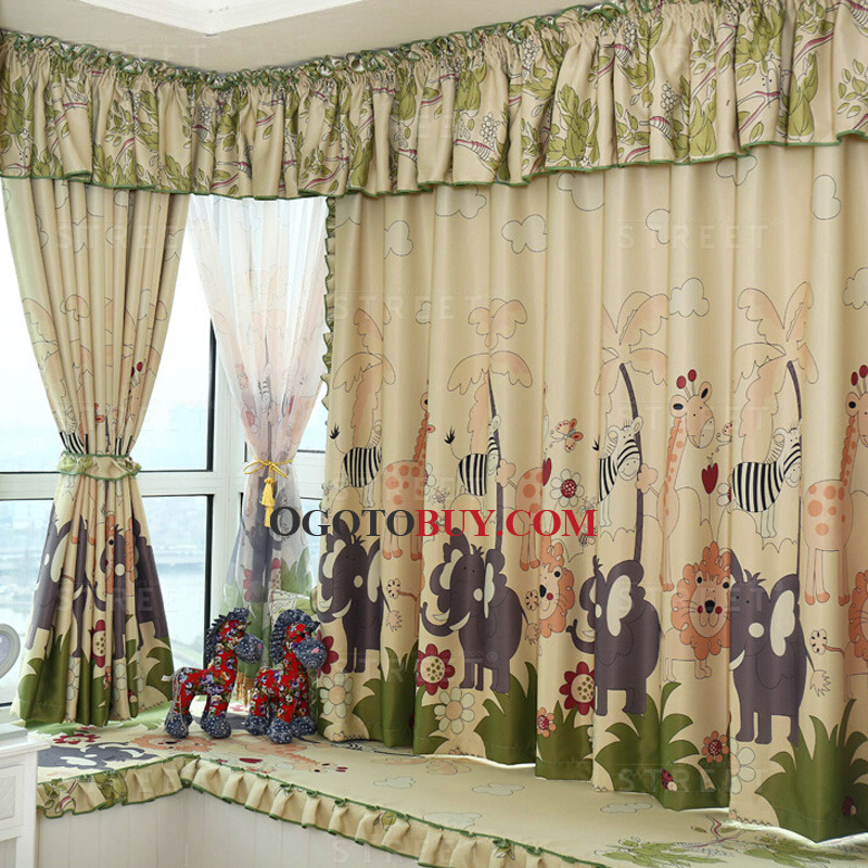 Printed Animal Pattern Blackout Fabric of Polyester Bay Window ...