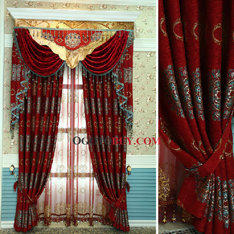 ... Victorian Style Living Room Curtain. Loading Zoom
