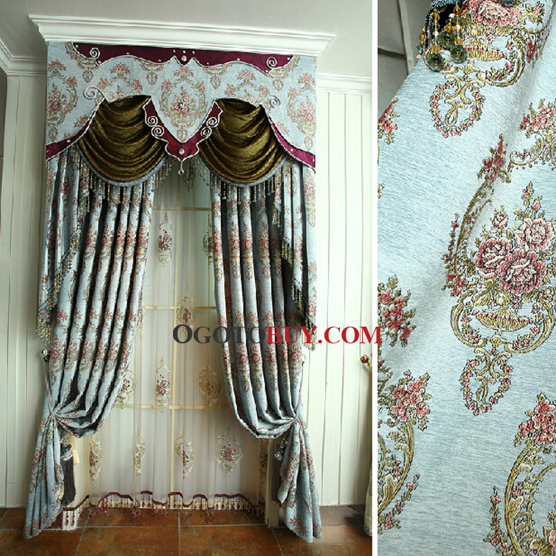 Luxury European Style Chenille Thick Fabric Blackout Curtain, Buy ...