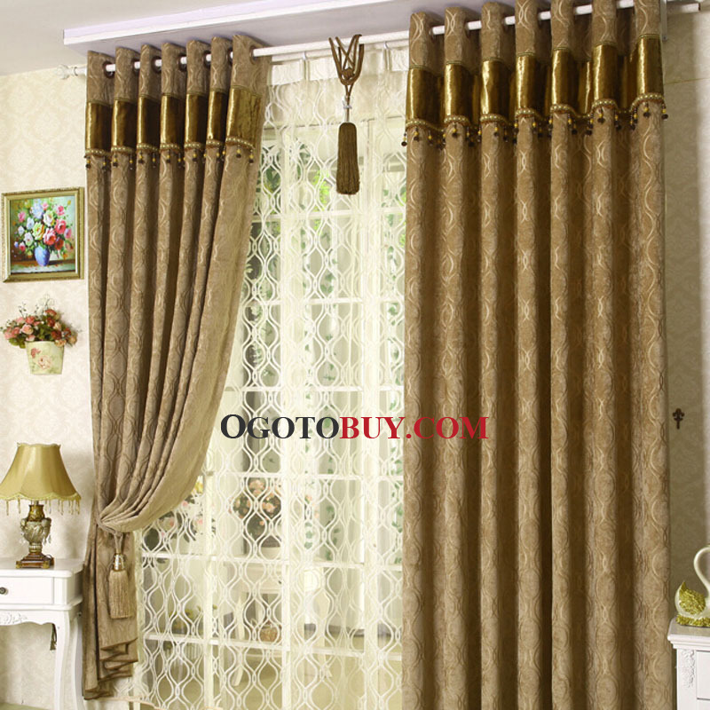 Insulated and Privacy Thick Dark Yellow Chenille Fabric Blackout ...