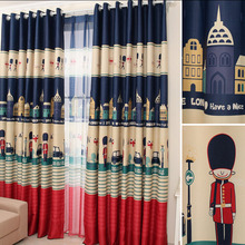 Retro British Style Poly/Cotton Blackout Curtain of Kids Curtain
