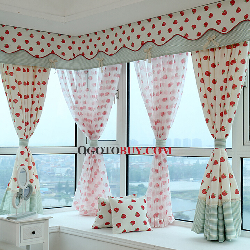 bay window curtain without valance loading zoom