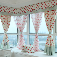 Poly/Cotton Blend Fruit Pattern of Bay Window Curtain without Valance