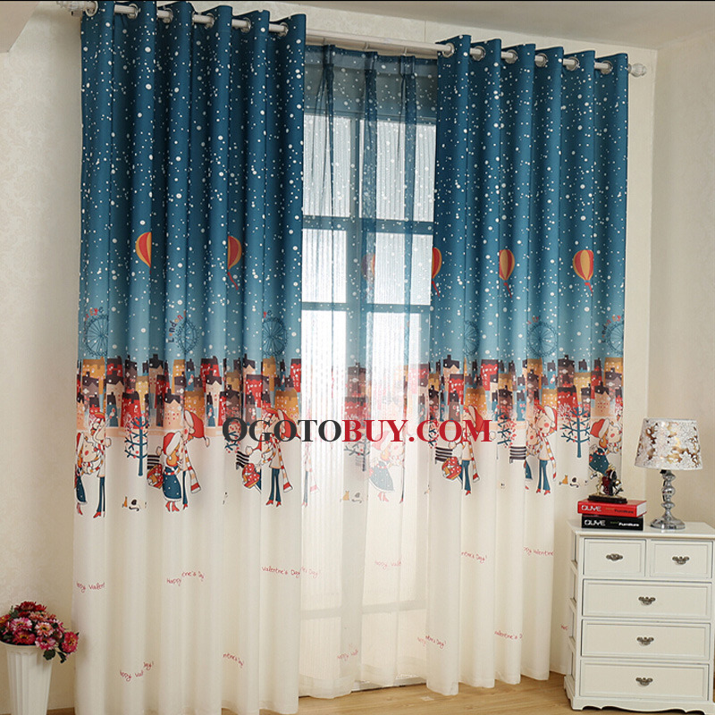 Nautical Style Multicolor Room Darkening Curtain For Kids Room - Room darkening curtains for kids