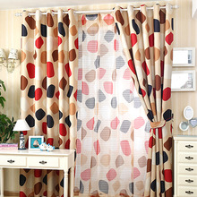 Colorful Polka Dote Pattern Poly/Cotton Blend Fabric Kids Curtains