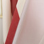 Modern Style Red Striped Cotton/Poly Blend Fabric Room Darkening Room Curtain