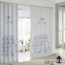 Animal Pattern Simple Modern Cotton/Poly Blend Fabric Room Darkening Curtain