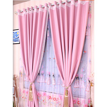 Romantic Princess Pink Polyester Room Darkening Curtain For Girls Room