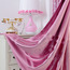 Romantic Link Color Cotton/Poly Blend Fabric Heat Insulation Blackout Curtain