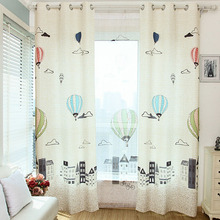 Cotton/Poly Blend Cartoon Pattern Beige Color Kids Curtain