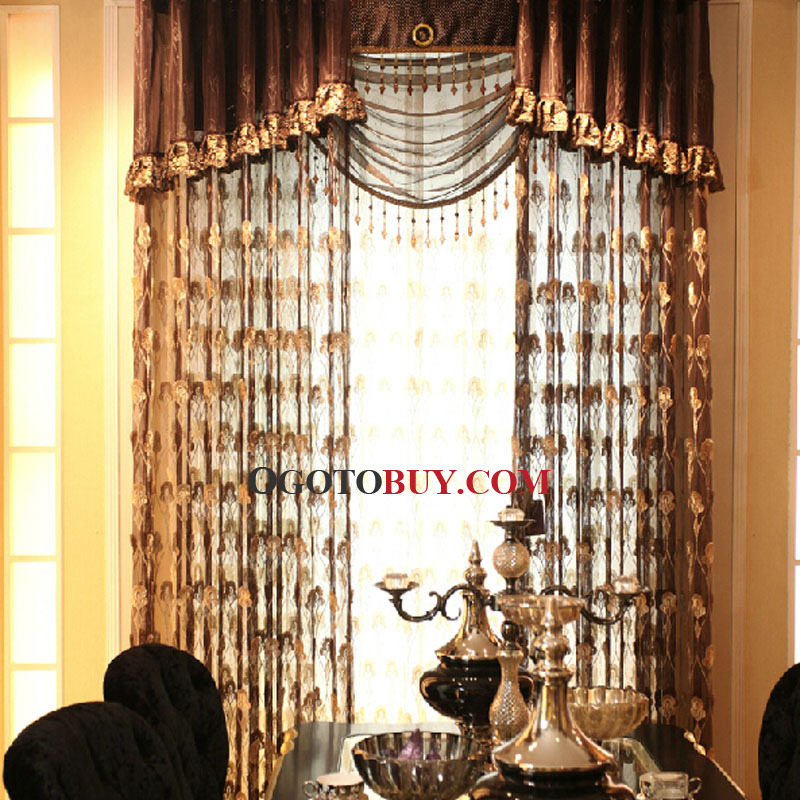 ... Raw Silk Wine Color Beautiful Decorative Sheer Curtain For Living Room  ...