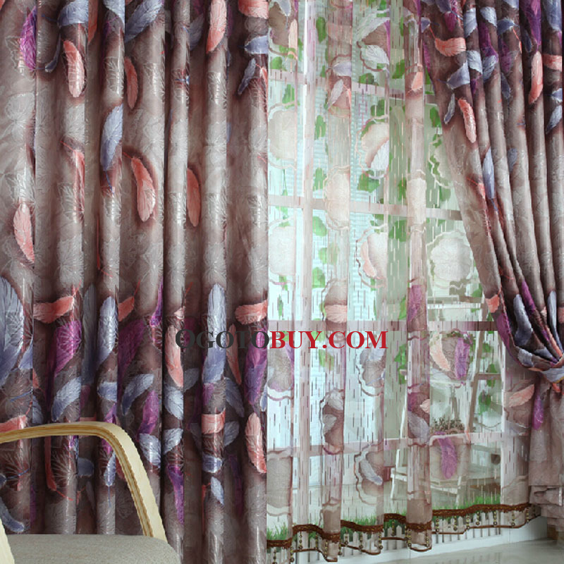 Beautiful Decorative Blackout Curtain Patterned with Leather For Bedroom
