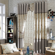 Beige Linen Pattern Privacy Curtain Of Room Darkening Curtain For Kids Room