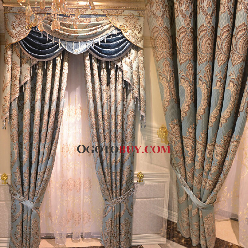 ... Privacy European Style Patterned Living Room Curtain. Loading Zoom