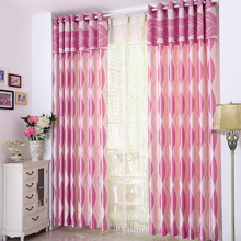 Fancy Pink Color Cool Pattern Room Darkening Modern Curtain