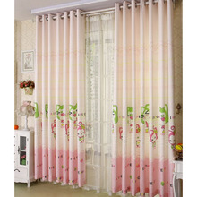 Lovely Cartoon Pattern Pink Poly/Cotton Blend Fabric Privacy Kids Curtain