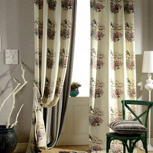 Classical Thick Beige Color Velvet Blackout Living Room Curtain