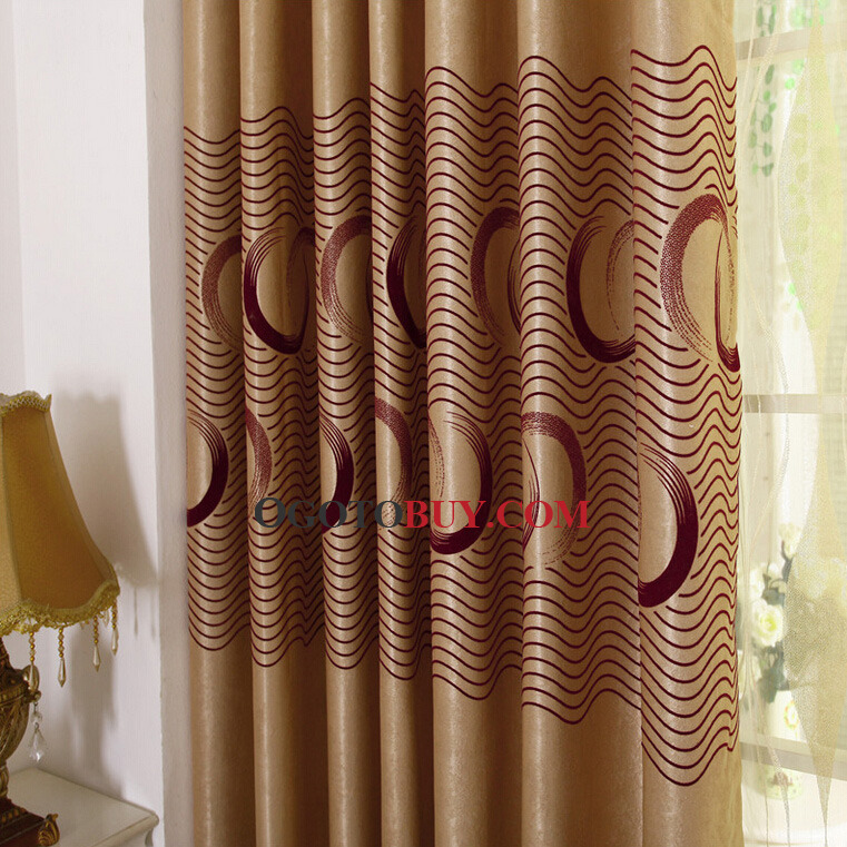 Classical Chocolate Suede Thick Insulated and Privacy Blackout Curtain
