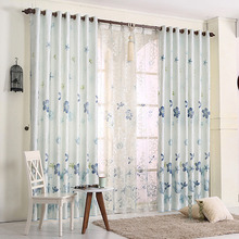 Refined European Pastoral Floral Pattern Energy Saving Curtain
