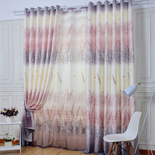 Refined Home Decor Pastoral Energy Saving Curtain Linen/Cotton Material