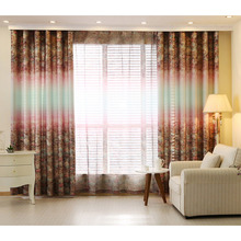 Colorful Primitive Poly/Cotton Fabric Country Curtains For Living Room
