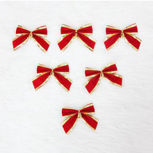 6 Pcs/Set Red Bowknot Xmas Decorations 3.1