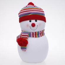 "Chic Snowman 9.4"" High Stand Christmas Doll"