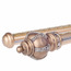 Crown Gold 19 inch Double Curtain Rods Aluminum