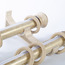 Ivory 19 inch Vintage Aluminum Alloy Double Curtain Rods