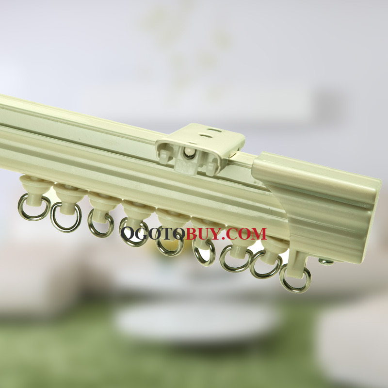 19 inch Ivory White Single Curtain Track