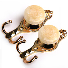 Gold Marble Wall Mount Curtain Holdbacks (a pair)
