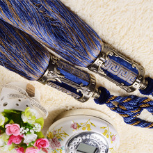 French Style Zinc Alloy Dark Blue Tassel 36 inch