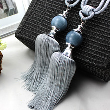 30 inch Gray Jade Ball Curtain Tassel