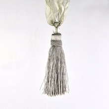 18 inch Gray Polyester Tie Back Tassel (One Piece)
