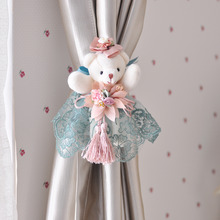 Blue Cartoon Bear Clip Curtain Tie Backs