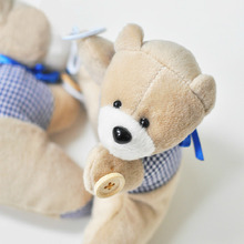 Short Plush Blue Cartoon Bear Curtain Tie Backs