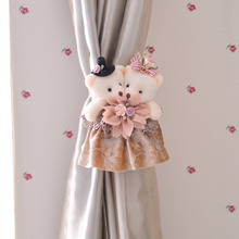 Two Cartoon Bear Marraied Clip Curtain Tie Backs
