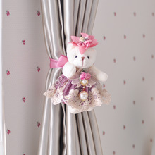 Purple Single Bear Clip Curtain Tie Backs