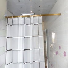 39-59 inch Stainless Steel Gold Shower Curtain Rod