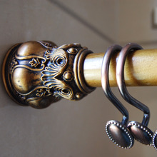 59-102inch Antique Brass Gold Shower Curtain Rod