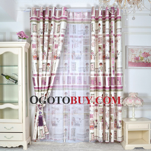 Cute Cartoon Patterned PolyCotton Room Darkening Curtains Kids - Room darkening curtains kids