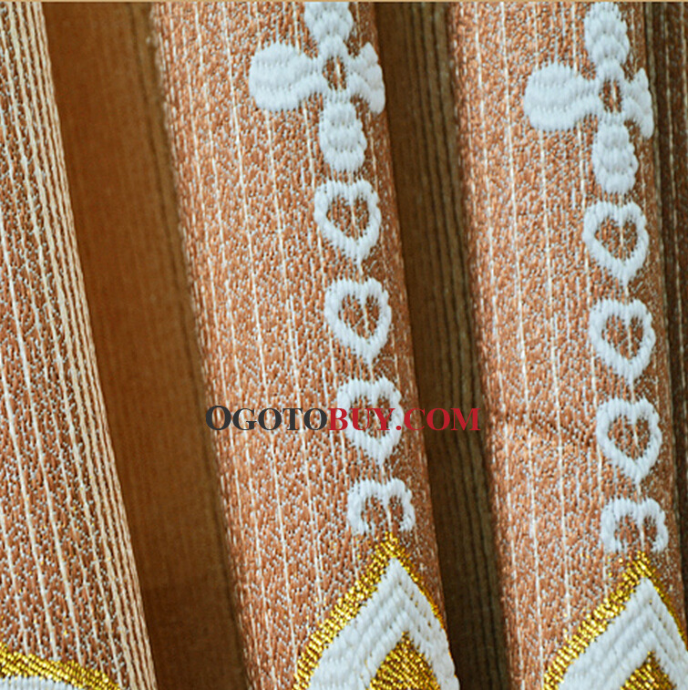 Luxury Gold Curtains Paisley Pattern Jacquard Living Room Curtains