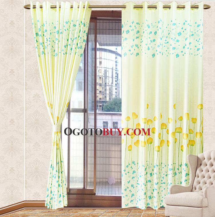 Blue and yellow curtains 2