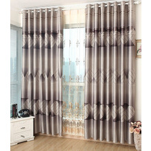 Casual Modern Style Grey Polyester Insulated and Thermal Blackout Curtains