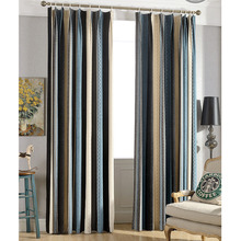 Vintage Style Thick Chenille Fabric Thermal Blackout Energy Saving Curtains