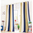 Simple Striped Pattern Gold and Navy Blue Chenille Thick Thermal Curtains