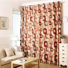 Cool Alphabet Pattern In Red Color Thick Polyester Insulated Kids Curtains
