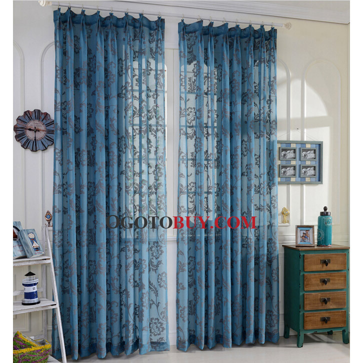 Superb ... Blue Sheer Curtains. Loading Zoom