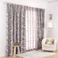 Room Darkening Purple-grey Polyester Decorative Floral Curtains