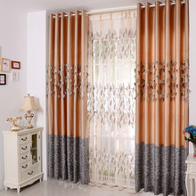 Room Darkening Polyester Decorative Living Room Curtains